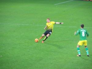 Watson takes a free kick