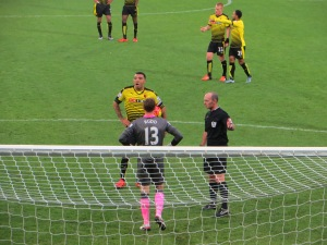 Deeney waiting to take the penalty