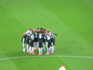 The pre-match huddle