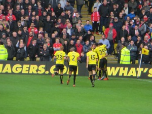 Celebrating Ighalo's first