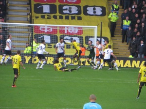 Ighalo leaps for a corner