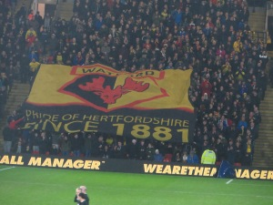 The 1881 banner in the family stand