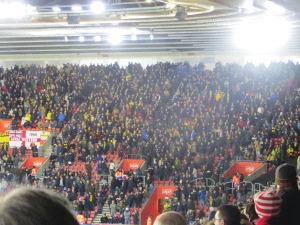 The away fans at St Mary's