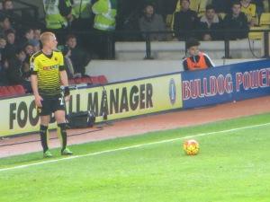 Ben Watson lining up a free kick