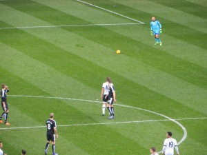 Gomes lines up a free kick
