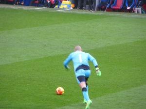 Gomes taking a free kick
