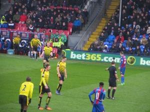 Watson lining up a free kick