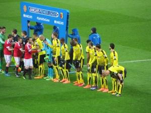 Pre-match line-up