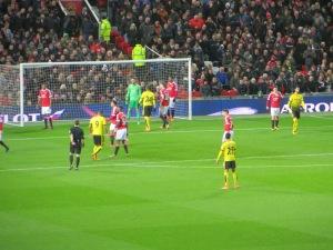 Preparing for a ball into the Man Utd box