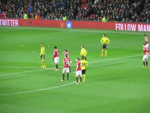 Britos, Ighalo, Behrami and Holebas await a ball out of defence