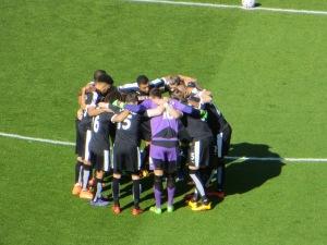 The pre match huddle