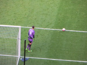Pantilimon lines up a goal kick