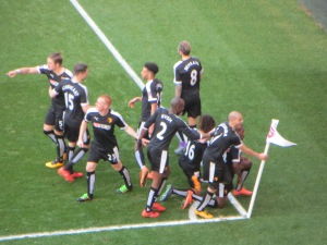 The celebration for Ighalo's goal