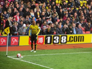 Guedioura lines up a corner