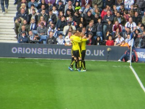 Celebrating Ben Watson's strike