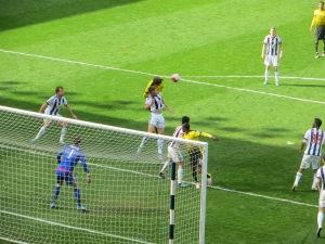 Prodl heads goalwards