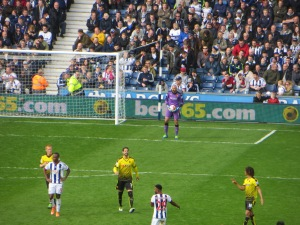 Gomes having saved a penalty