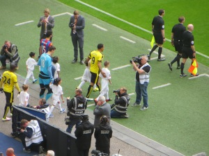 Deeney leads the team out at Wembley
