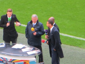 GT in his role of pundit at half time