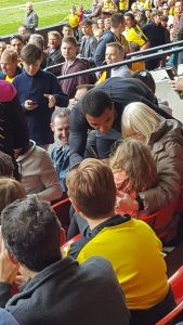 Deeney apologises to girl in the Rookery