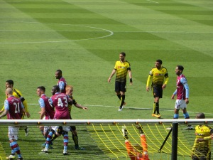 Challenging at a Watford corner