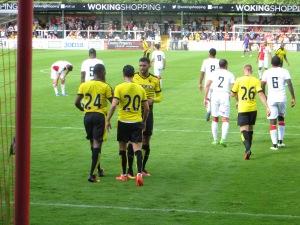 Congratulating Berghuis on his goal