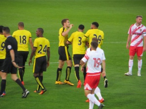 Capoue congratulated on his first goal for the Hornets