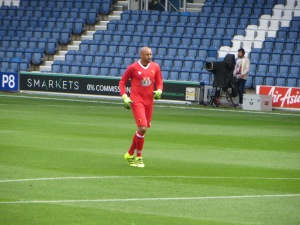 Gomes in a kit reminiscent of Steve Sherwood