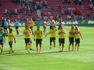 Thanking the travelling Hornets