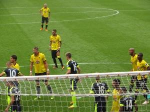 An attacking corner