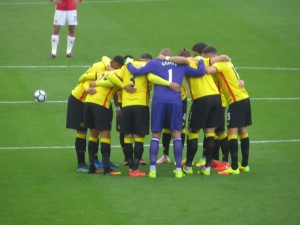 The pre match huddle