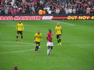 Britos, Pereyra, Pogba and Behrami anticipate a ball forward