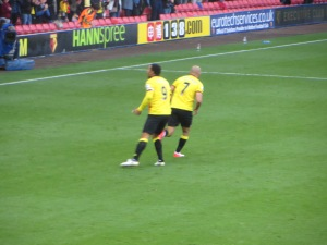 Deeney and Amrabat after the first goal