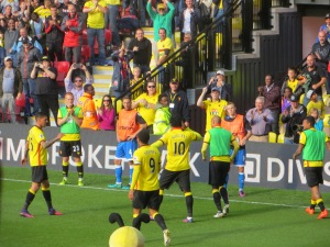Watson joins in the applause for Success