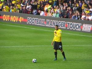 Capoue takes a free kick