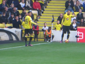Pereyra and Holebas preparing for a corner