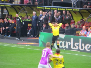 Holebas takes a throw-in