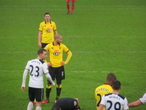 Guedioura lines up a free kick