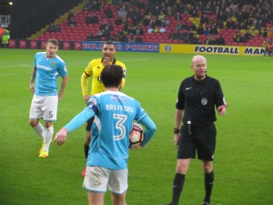 Deeney waiting for Brayford's throw