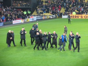 The former players at half time