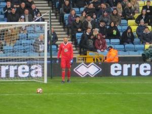 Gones takes a goal kick