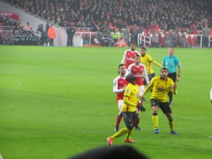 Deeney and Niang waiting for the ball to drop