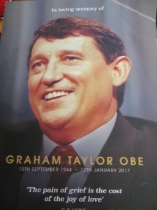 Order of service for Graham Taylor's funeral