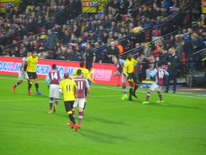 Niang challenging for a header