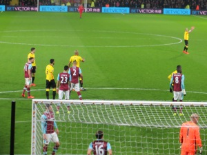 Lining up for a corner
