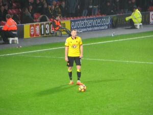 Cleverley taking a free kick