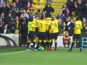 Celebrating Deeney's 105th Goal