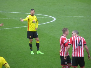 Holebas preparing for a free kick